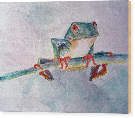 Tree Frog Wood Print by Mike Segura