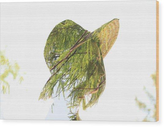 Tree Hat Wood Print