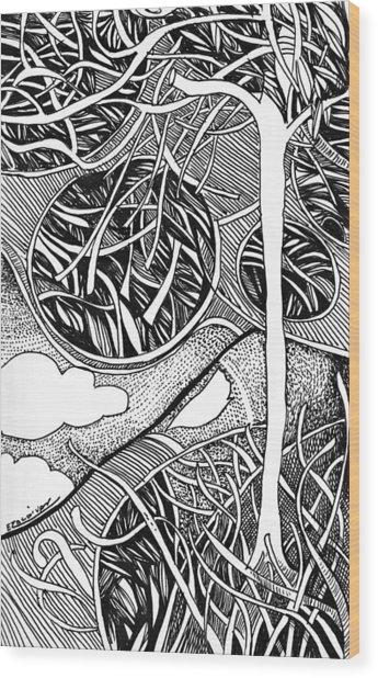 Tree In Metamorphosis Wood Print