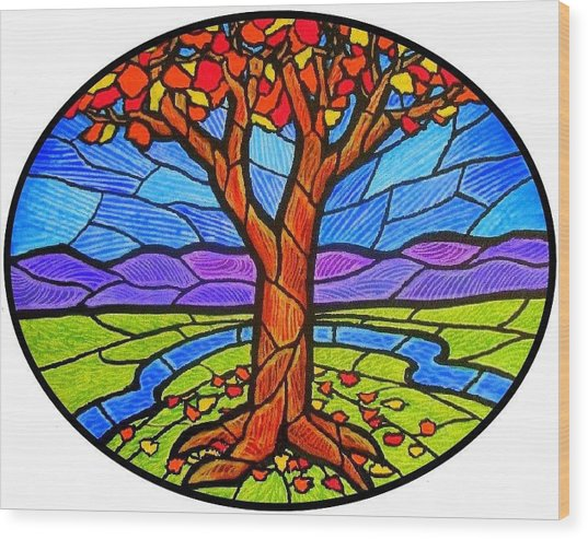 Tree Of Grace - Autumn Wood Print