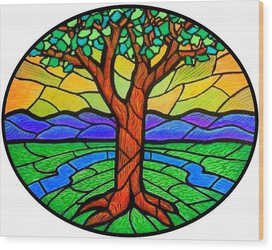Tree Of Grace - Summer Wood Print