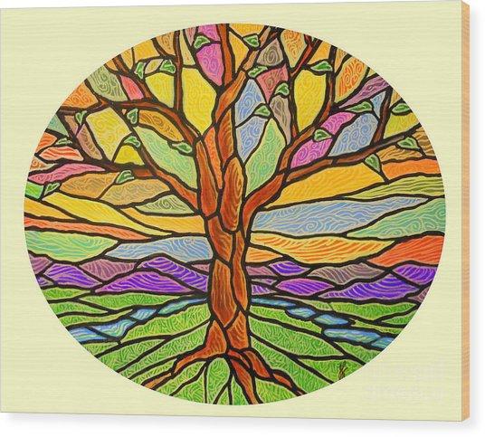 Tree Of Grace 2 Wood Print