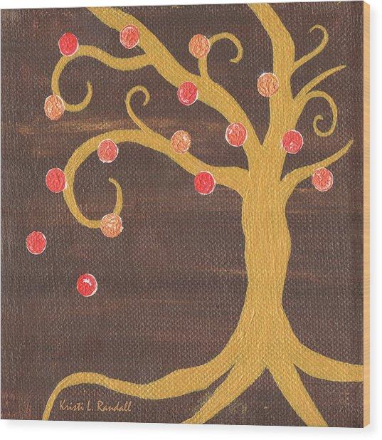 Tree Of Life - Right Wood Print by Kristi L Randall