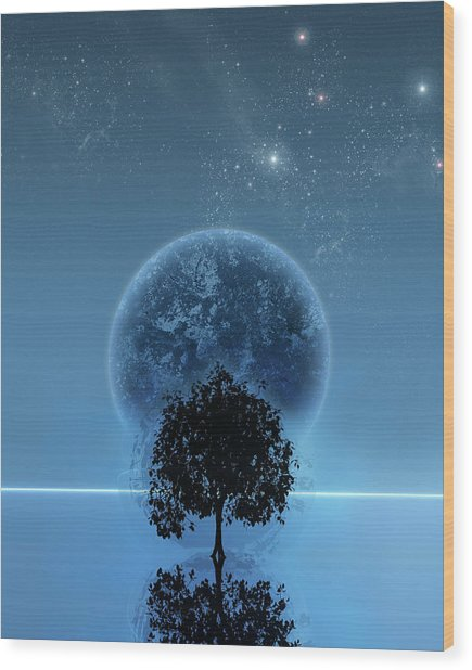Tree Of Life Wood Print by Andreas  Leonidou