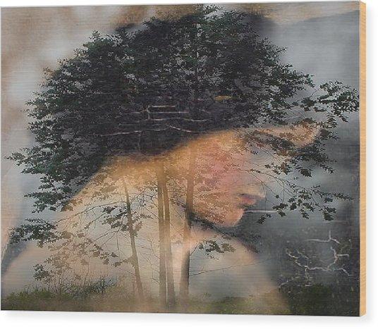 Tree Of Life Wood Print by Kathleen Romana