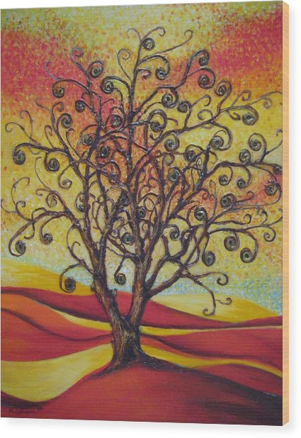 Tree Of Life Wood Print by Mirjana Gotovac