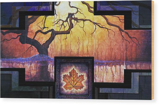 Tree Of Life The Giver Wood Print