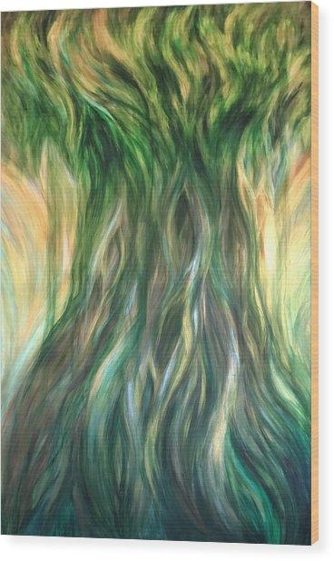 Tree Of Wisdom Wood Print