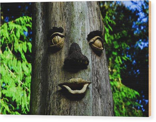 Tree People Wood Print by Craig Perry-Ollila