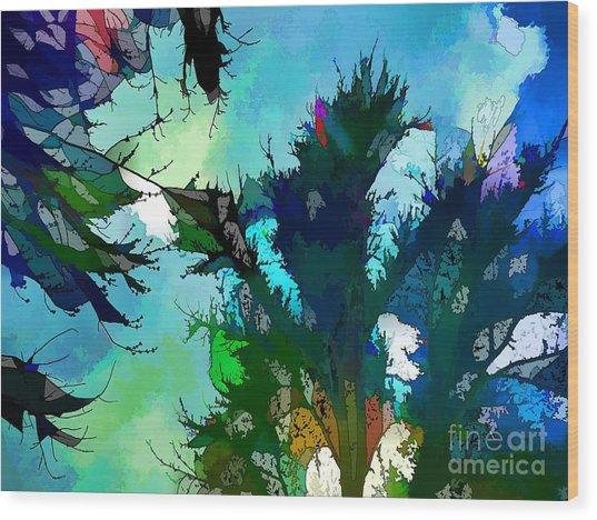 Tree Spirit Abstract Digital Painting Wood Print