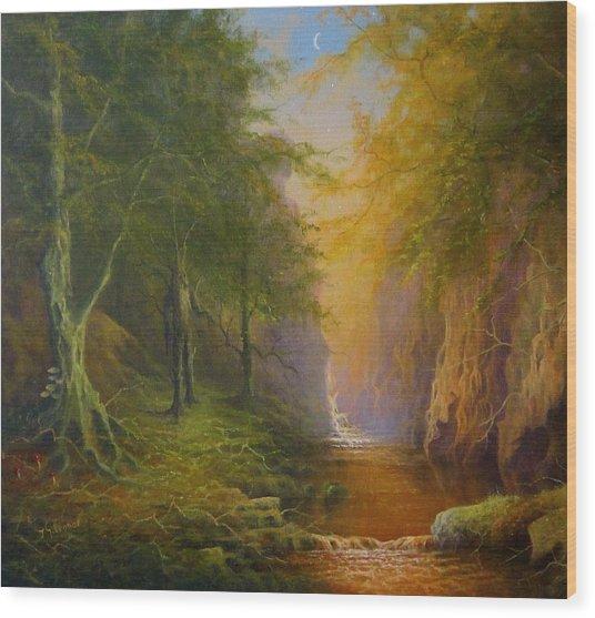 Fairytale Forest Tree Spirit Wood Print