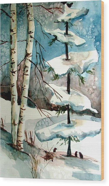 Tree Talkers Wood Print