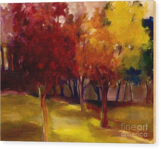 Treescape Wood Print