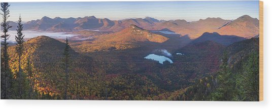 Tremont Autumn Morning Panorama Wood Print