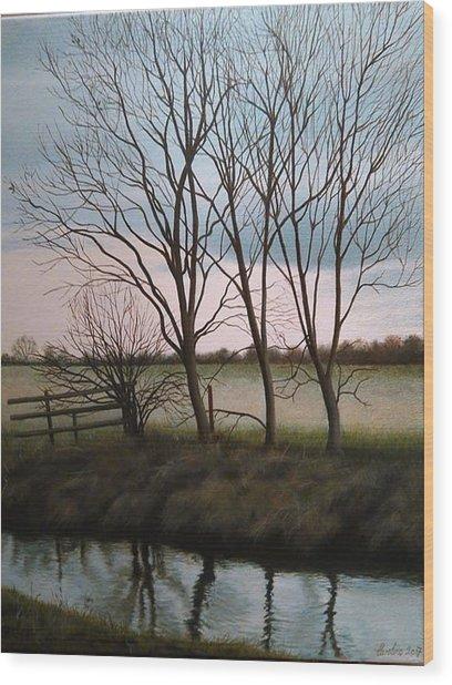 Trent Side Wood Print