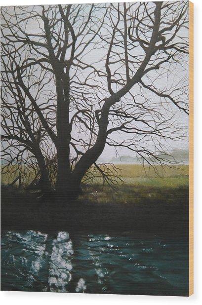 Trent Side Tree. Wood Print