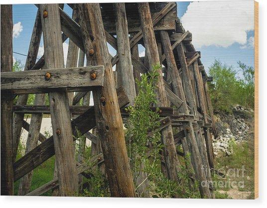 Trestle Timber Wood Print