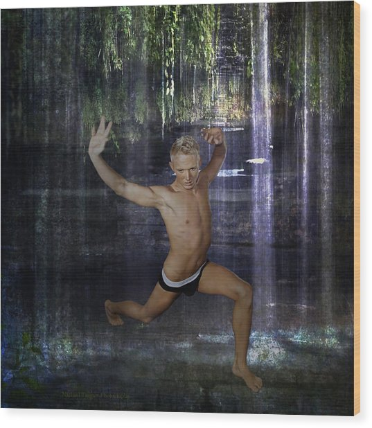 Wood Print featuring the photograph Trevor - Jungle Warrior by Michael Taggart