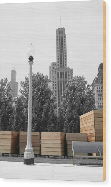 Wood Print featuring the photograph Tri Towers by Dylan Punke
