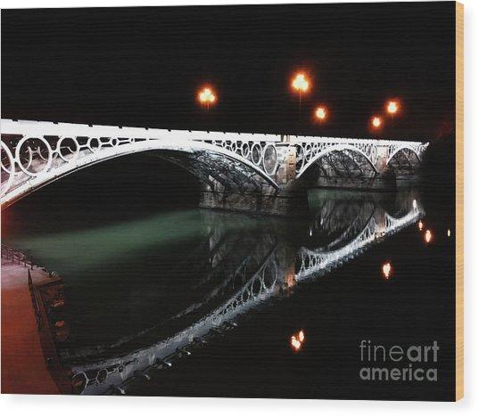 Triana Bridge Wood Print