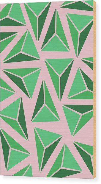 Triangle Geo Wood Print