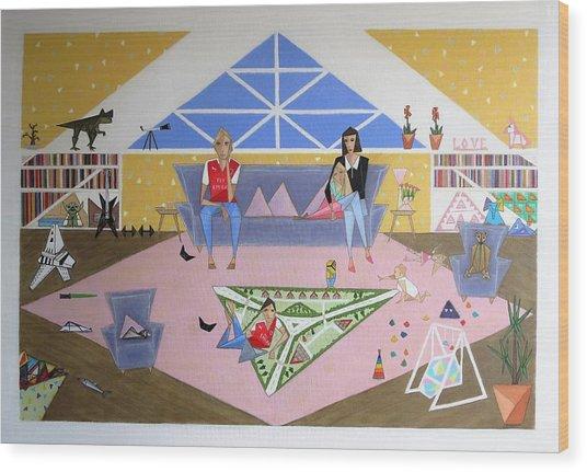 Triangular Life. Family Wood Print