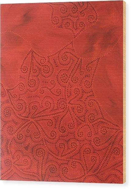 Tribal Dreams Wood Print by Sophia Elise