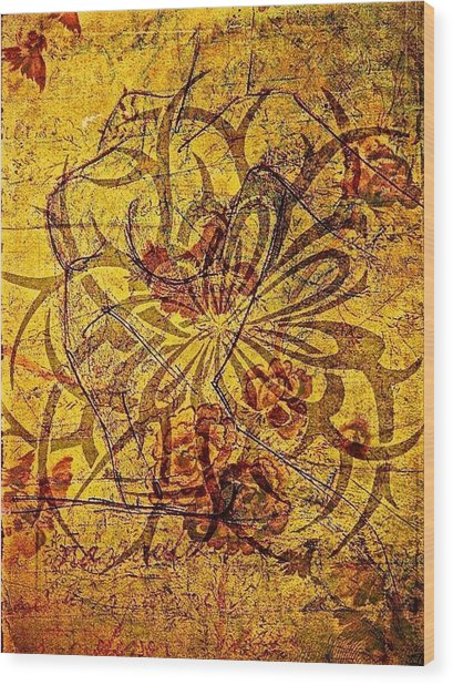 Tribal Flower Wood Print