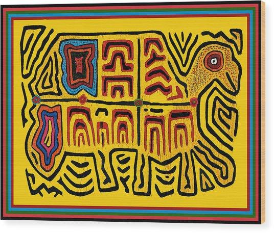 Tribal Turtle Spirit Wood Print