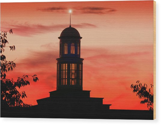 Trible Library Dome At Christopher Newport University Wood Print