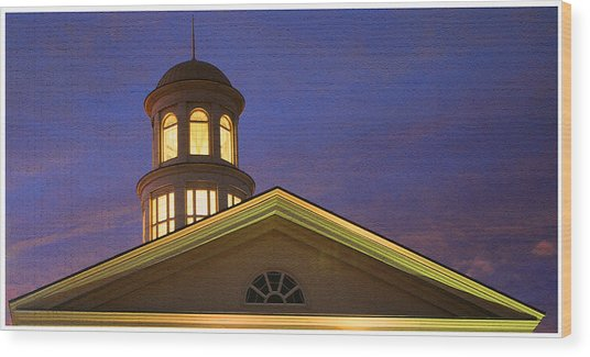 Trible Library Dome Wood Print