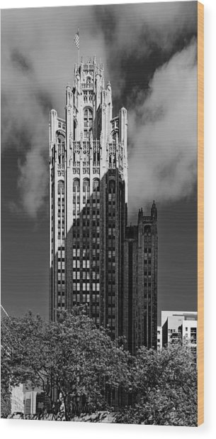 Tribune Tower 435 North Michigan Avenue Chicago Wood Print