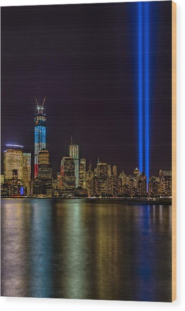 Tribute In Lights Memorial Wood Print