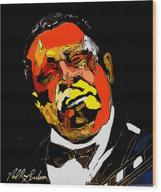 tribute to BB King reworked Wood Print