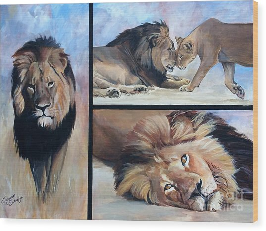 Tribute To Cecil The African Lion Wood Print