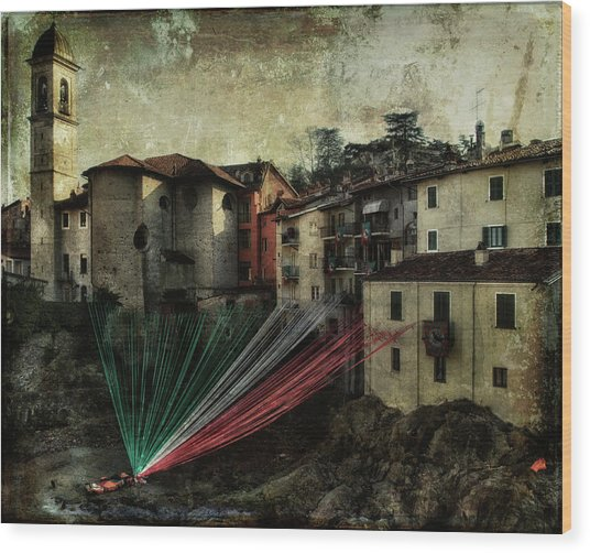 Tribute To Italy Wood Print