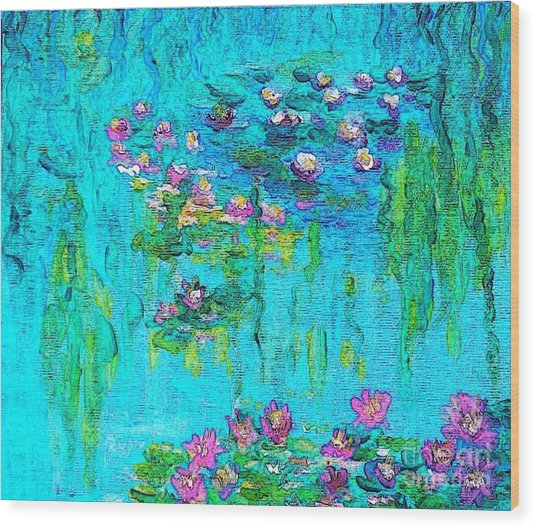 Tribute To Monet Wood Print