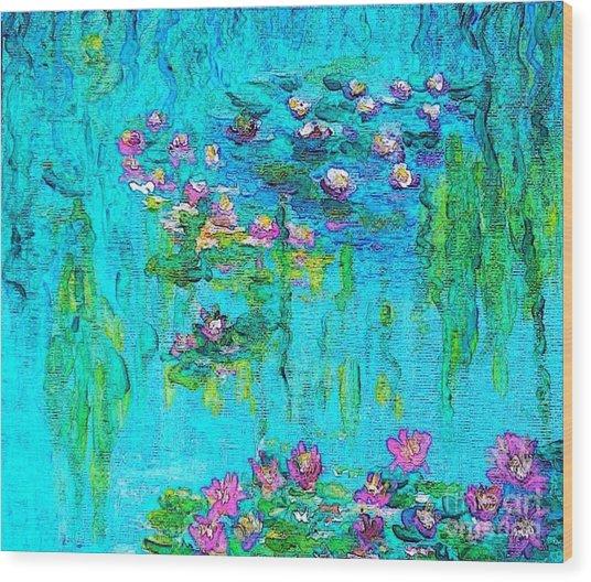Tribute To Monet Wood Print