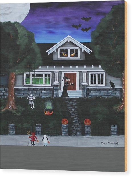 Trick-or-treat Wood Print