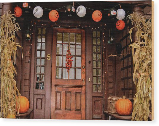 Trick Or Treat   Wood Print by JAMART Photography