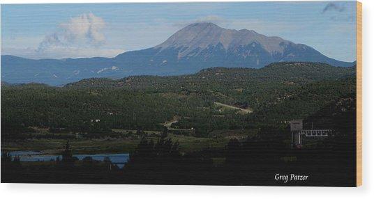 Trinidad Overlook Wood Print by Greg Patzer