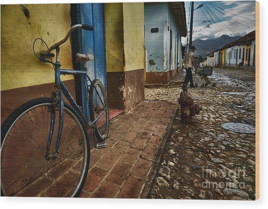 Trinidad Streets Wood Print