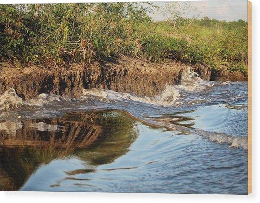 Trinidad Water Reflection Wood Print