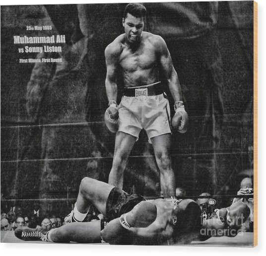Trinity Boxing Gym Ali Vs Liston  Wood Print