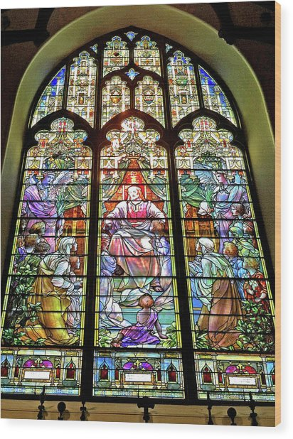 Trinity Church Galveston Wood Print