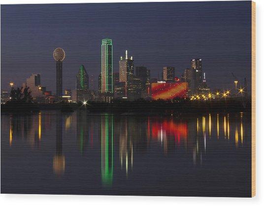 Trinity River Dallas Wood Print