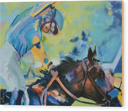 Triple Crown Champion American Pharoah Wood Print