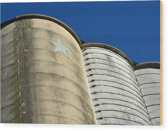 Triple Silo With Star Wood Print