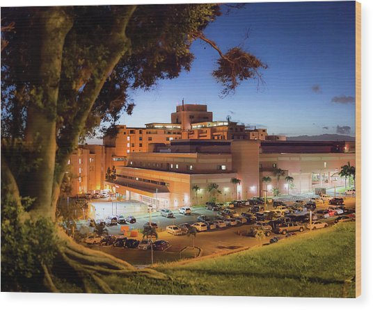 Tripler Army Medical Center Wood Print