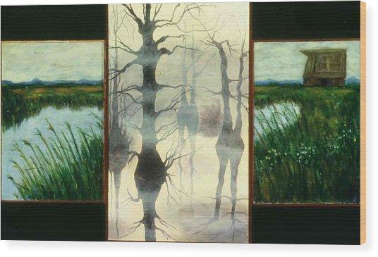 Triptych Wood Print by Helen O Hara